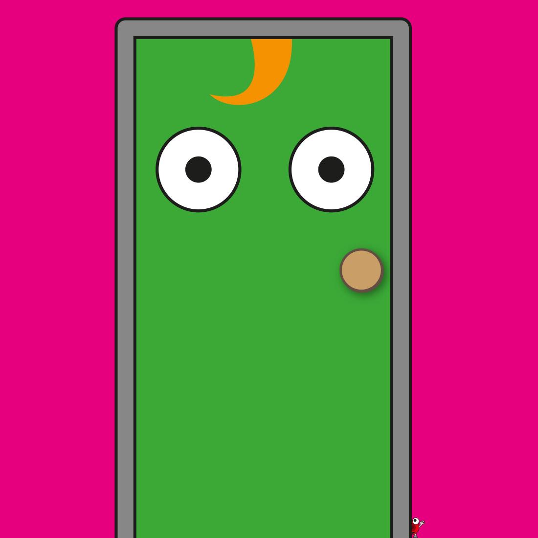 R and Q Character - Door