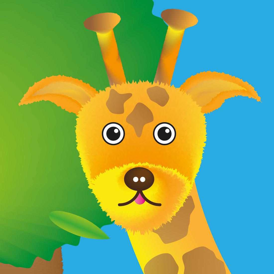 R and Q Character - Gerri Giraffe