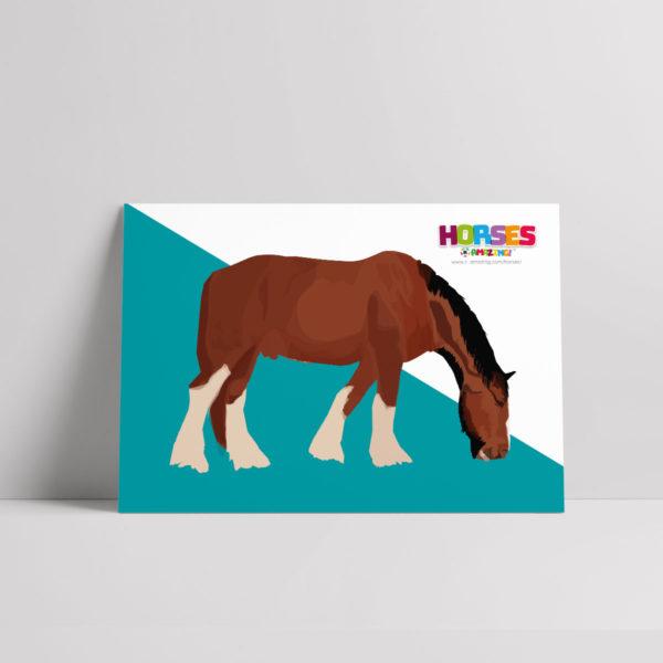 Horses R Amazing! Poster - Shire Horses