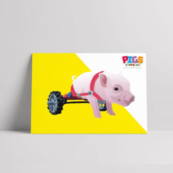 Wheelie Good Pigs R Amazing Poster