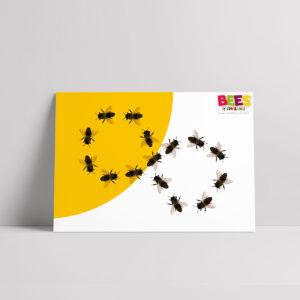 Dancing Bees Poster