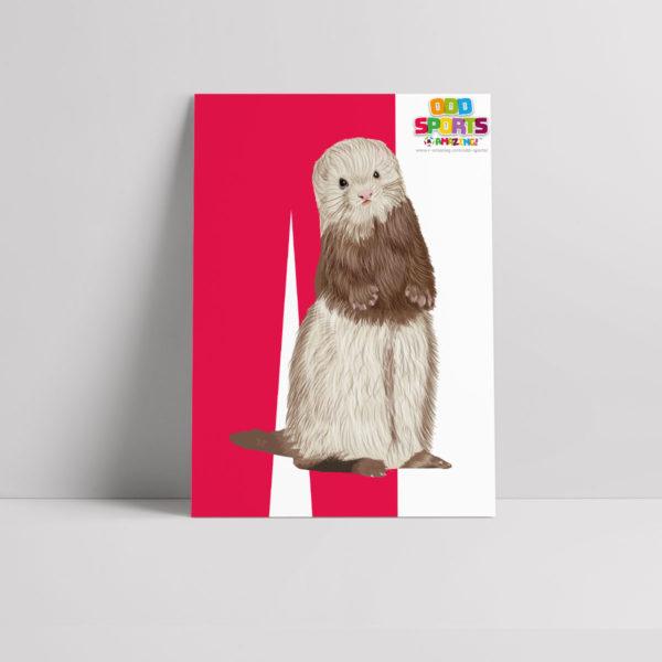 Ferret Legging Poster